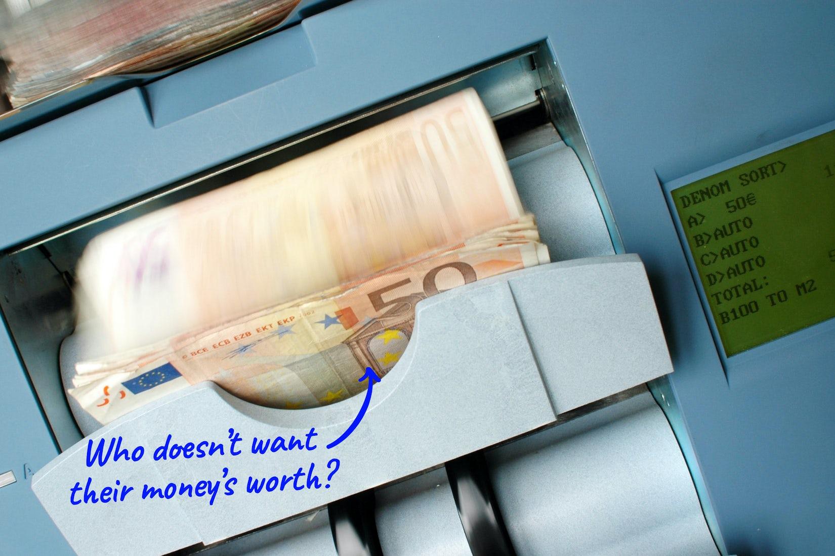 cash machine loading up money