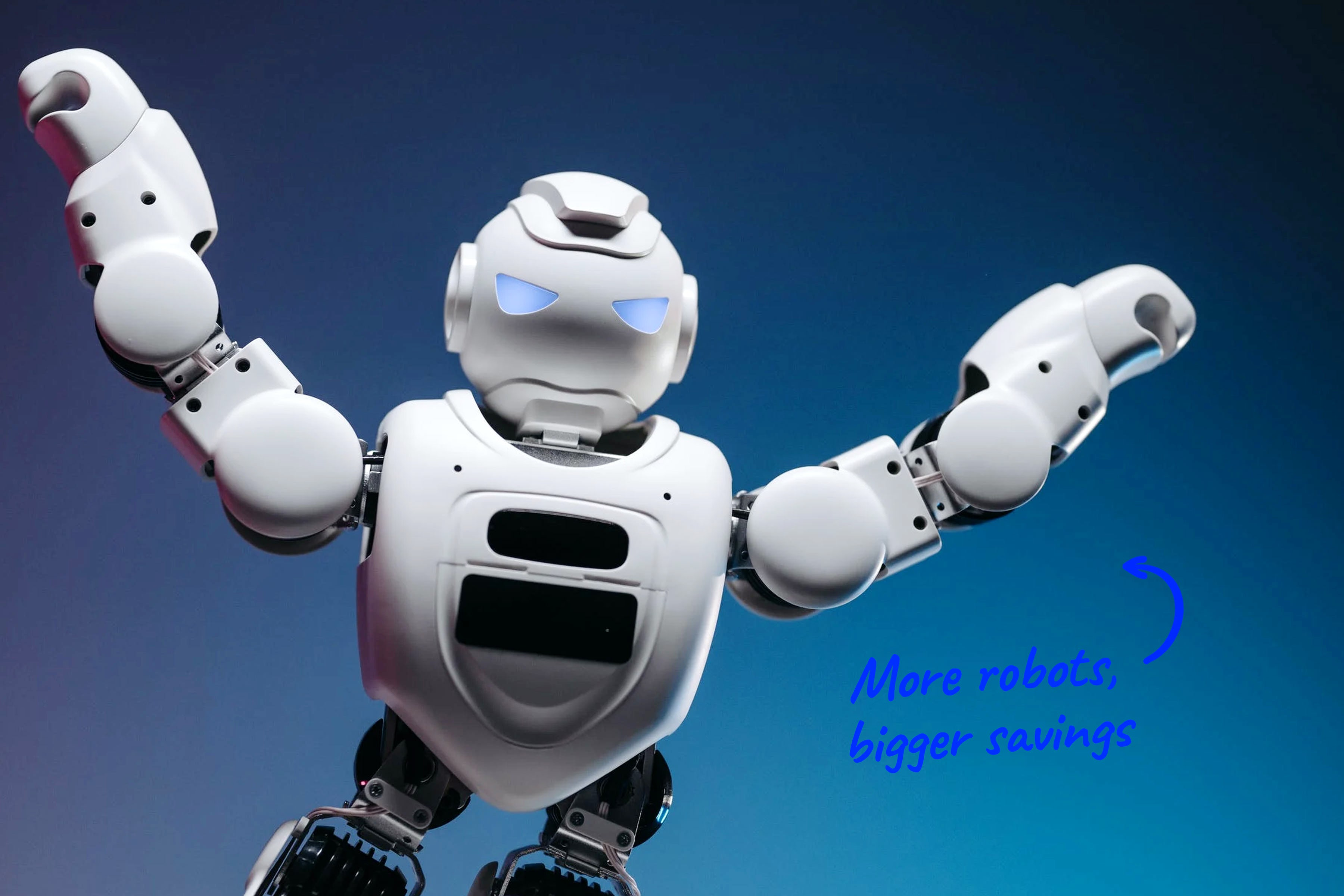 a robot with arms outstretched