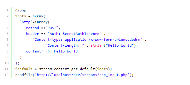 code in a code editor